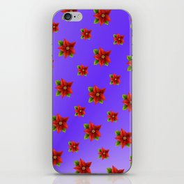 Red Flowers Pattern 3 iPhone Skin