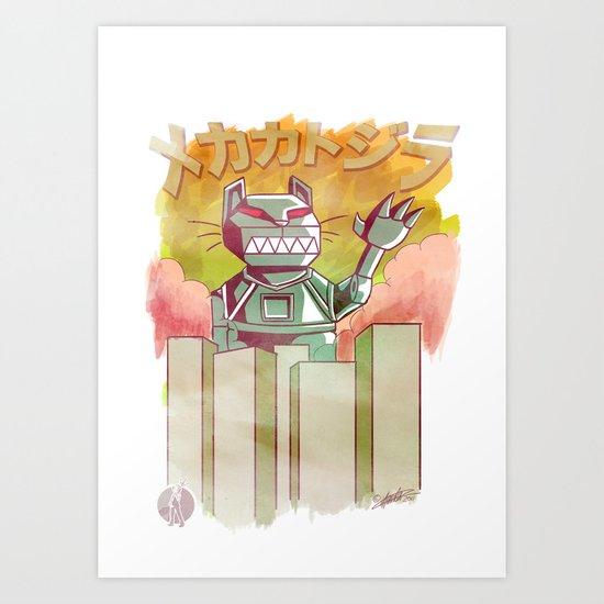 Mecha Catzilla Art Print