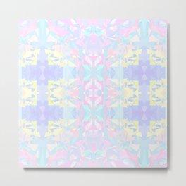 Pastel Triangles 2 Metal Print