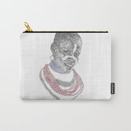 Karo Tribe Beautiful Lady Carry-All Pouch