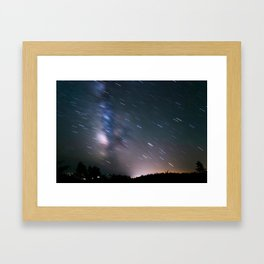 Trails Over Cadillac Framed Art Print