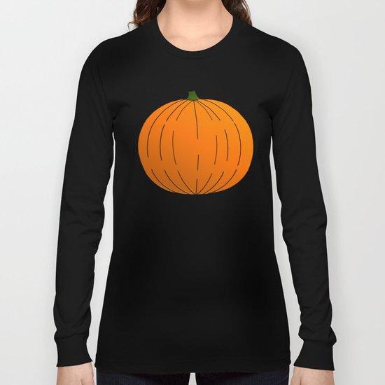 Pumpkin Illustration Long Sleeve T-shirt