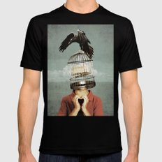metaphorical assistance LARGE Black Mens Fitted Tee