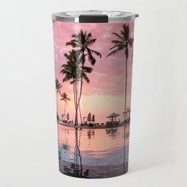 Pastel Sunset Palms Travel Mug