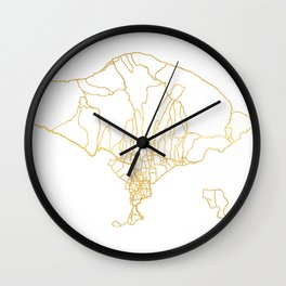 BALI INDONESIA CITY STREET MAP ART Wall Clock