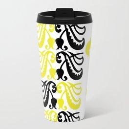 Fluer de Lis Custom Yellow Travel Mug