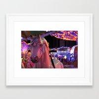 carousel Framed Art Prints featuring Carousel by Ellie Rose Flynn