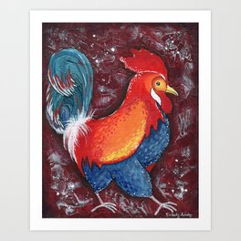 Red Rooster by Kimberly Schulz Art Print