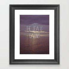 The Sea Is Calling Framed Art Print
