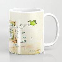 apple Mugs featuring Apple! by Pepan