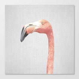 Flamingo - Colorful Canvas Print