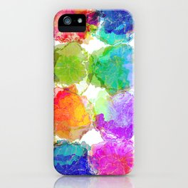 Colorful Ink Blots iPhone Case