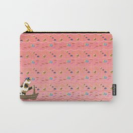 Captain Cat in pink Carry-All Pouch