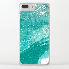 Riding the Waves Clear iPhone Case