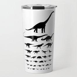 Dinosaur Eye Chart (monochrome) Cretaceous and Jurassic periods Travel Mug