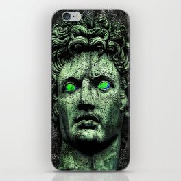 Angry Caesar Augustus Photo Manipulation Portrait iPhone Skin