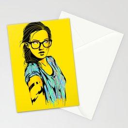 Glasses & A splash of color Stationery Cards