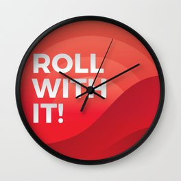 Roll with It! Wall Clock