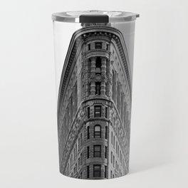 Flatiron Black and White NYC Travel Mug