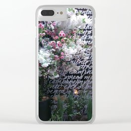 At the Mayfair florist III Clear iPhone Case