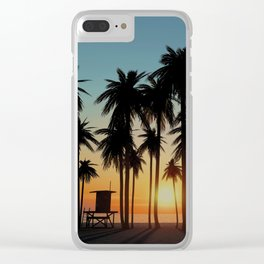 Newport Sunset in 3D Clear iPhone Case