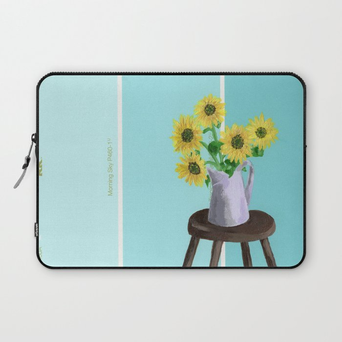 Sunflowers on Blues Laptop Sleeve