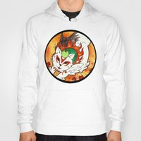okami Hoodies featuring Amaterasu from Okami 03 by Jazmine Phillips