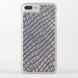 Small marbles pattern Clear iPhone Case