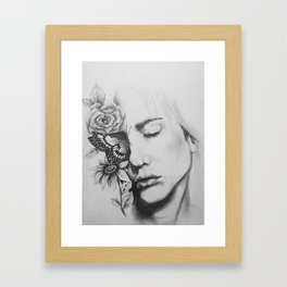 Sleeping Flowers Framed Art Print