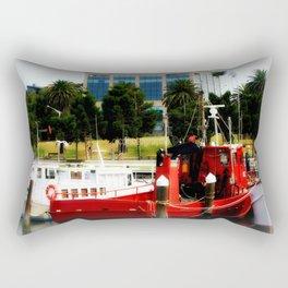 Little red tug Boat Rectangular Pillow