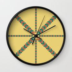 X Marks the Center Wall Clock
