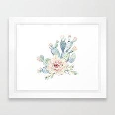 Perfect Cacti Rose Framed Art Print
