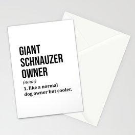 Giant Schnauzer Dog Funny  Stationery Cards