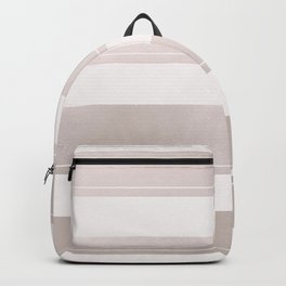Rose Gold and Wide Pink Stripes Mix Pattern Backpack