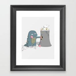 Godzelato! - Series 4: Yes gelato. No nukes. Framed Art Print