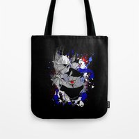 kakashi Tote Bags featuring Kakashi Eye by feimyconcepts05