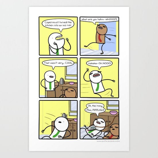 Antics #317 - kitchen nightmares Art Print