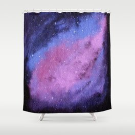 Lovely Galaxy Watercolor 4 Shower Curtain
