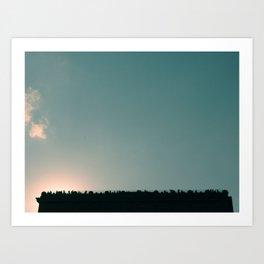 Blue skies are coming Art Print
