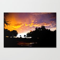 Sunset in Orlando, Florida with Colorful Clouds  Canvas Print