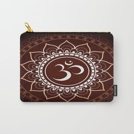 Brown Om Mandala Carry-All Pouch