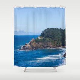 From Far Away - Heceta Head Lighthouse Shower Curtain
