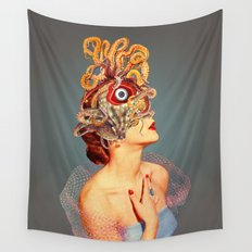 Freud vs Jung Wall Tapestry