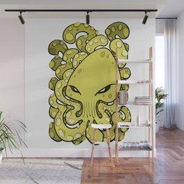 Octopus Squid Kraken Cthulhu Sea Creature - Meadow Lark Yellow Wall Mural