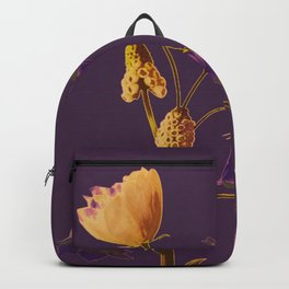 head to tail flowers Backpack