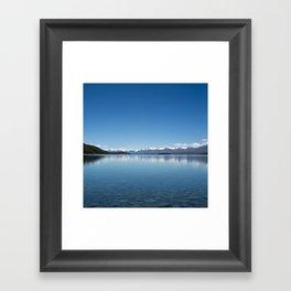 Blue line landscape Framed Art Print