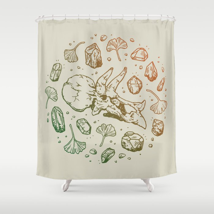 Leaf Green Pumpkin Spice Ombr Shower Curtain