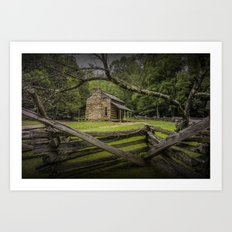 Oliver Log Cabin in Cade's Cove Art Print