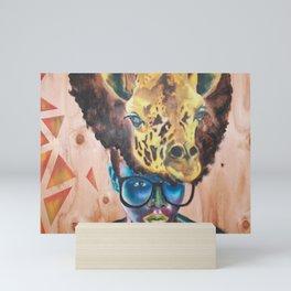 Giraffe Me Centric Mini Art Print