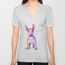 Terrier Bubbles Unisex V-Neck